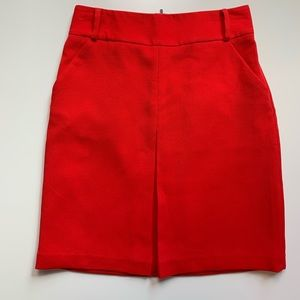 Worthington Size 4 Red Skirt with Exposed Zipper